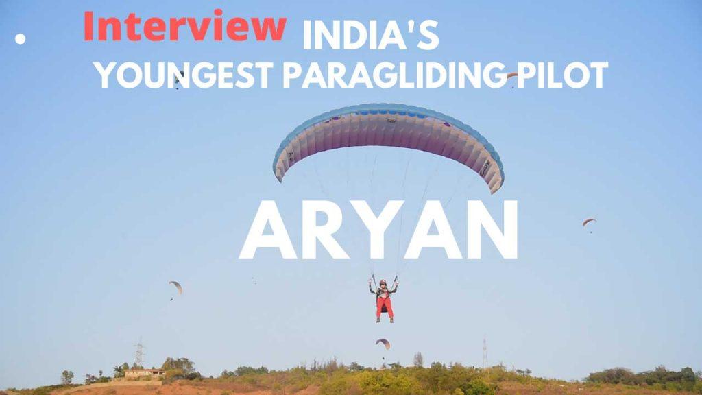India's Youngest Paragliding Pilot Aryan Kasbekar - Temple Pilots