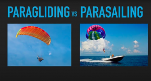 Difference between Parasailing and Paragliding